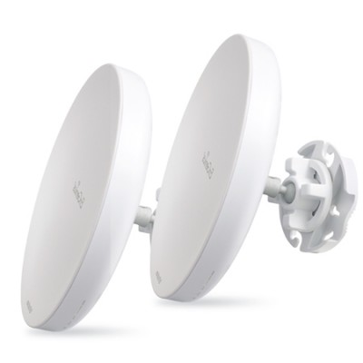 Set EnStation5 Point-to-point 3Km. Outdoor Long-Rang 11n Access Point/Client Bride, Speed 300Mbps 5GHz, 2x19dBi High-Gain Antennas