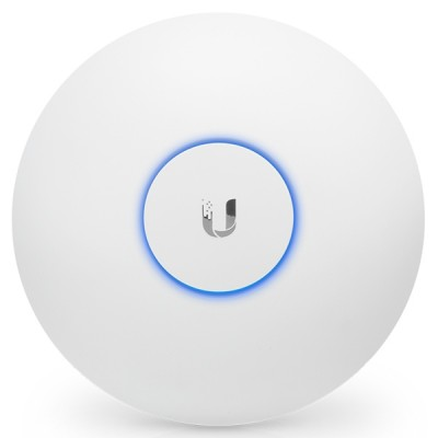 Ubiquiti UAP-AC-LR Long Range Indoor AP 802.11ac, Dual-Band 2.4GHz&5GHz, Antennas 3dBi, Power 24dBm, 24V/0.5A Gigabit PoE Adapter Included