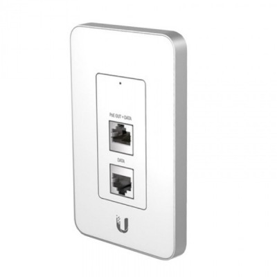 Ubiquiti UAP-IW UniFi AP IN-WALL 802.11n Speed 150Mbps, Single-Band 2.4GHz, Power 17dBm, 802.3af PoE Supported