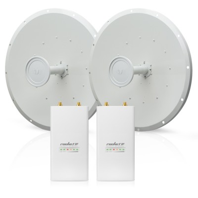 Ubiquiti Rocket M5-RD-5G30-SET Point-to-point WiFi Link 15-20Km. airMax AP, Freq 5GHz 150+Mbps, 2x2 MIMO, Hi-Power 27dBm, RocketDish 30dBi Antenna
