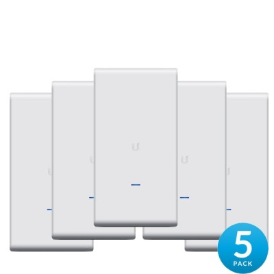 Ubiquiti UAP-AC-M-PRO-5 Pack 5 Mesh Technology AP Outdoor Hi-Performance W-Fi 802.11ac 1.75Gbps, Dual-Band 2.4GHz&5GHz, Omni Antennas 2x2MIMO, Power 22dBm, 48V/0.5A Gigabit PoE Adapter Included