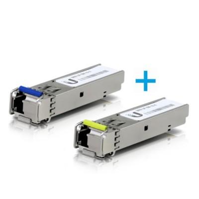 UBiQUiTi UF-SM-1G-S 1.25G SFP BiDi Transceiver Wavelength 1550/1310nm Single LC Connector, 3 Km. Single-Mode (2-Pack)