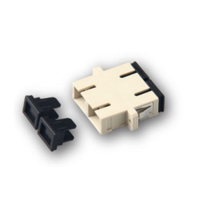 Link UF-0066 SC Fiber Optic Duplex Adapter, Multi-mode, Phosphor Bronze Sleeve, PBT Housing