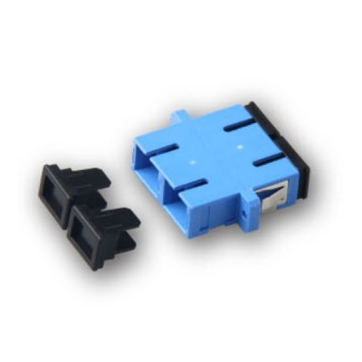 Link UF-0066SM SC Fiber Optic Duplex Adapter, Single-mode, Ceramic Sleeve, PBT Housing