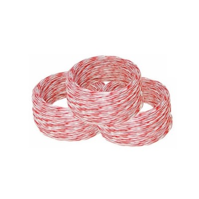 Link UL-0002  Jumper Wire, White -Red (24 AWG) 2C Cable 100M.*/Roll
