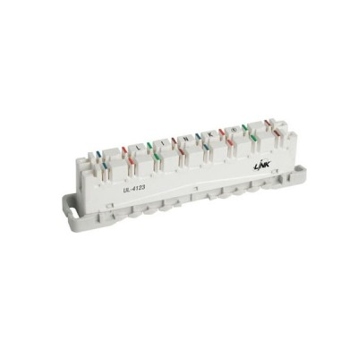 Link UL-4123  INTELLIGENT DISCONNECTION MODULE 8 Pair CAT 6 (TOT Spec # OES 002 001 02) (เทอร์มินอล CAT 6 8 คู่สาย)