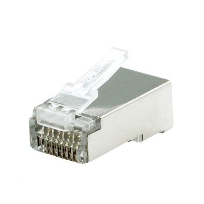 LINK US-1004 Shield CAT 6 RJ45 Plug 2 Layer 600 MHz With Pre-Insert bar