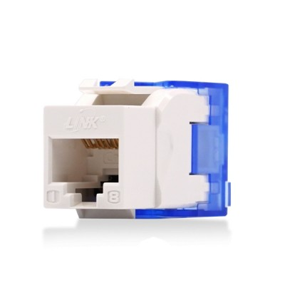 LINK US-1006STF CAT 6 RJ45 Modular Jack Unshield, Slim Tool Free, White Color
