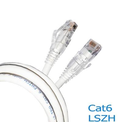 LINK US-5101LZ-1 LSZH RJ45 Patch Cord Cat6 UTP, Length 1M., White