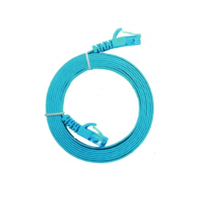 LINK US-5141-8 CAT 6 Flat Patch Cord Cable 1 M (Light Blue)