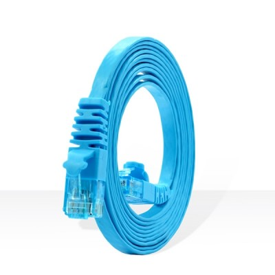 LINK US-5142-8 CAT 6 Flat Patch Cord Cable 2 M (Light Blue)