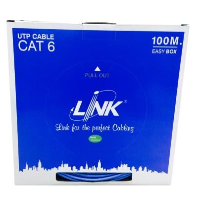 LINK US-9106A-1 CAT6 UTP (250 MHz) w/Cross Filler, 24 AWG, CM Blue 100 M./Easy Box