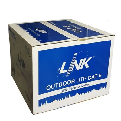LINK US-9106MW CAT6 Outdoor UTP PE w/Drop Wire & Power Wire Cable, CMX Black Color 305 M./Reel in Box *ส่งฟรีเขต กทม.