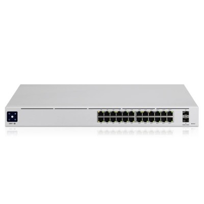 Ubiquiti USW-Pro-24-POE (UniFi Switch Pro 24 PoE) L2/L3 Managed Switch with 24-Port Gigabit with (16) 802.3at PoE+, (8) 802.3bt PoE++ and 2-Port 10G SFP+, 1U Rackmountable
