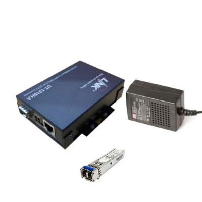 Link Set UT-1310HA + UT-9125D-10 Fiber Gigabit Media Hardened Converter Type, 10/100/1000 Mbps, 1-Port RJ45, SFP Slot , Distance 10 km. *ส่งฟรีทั่วประเทศ