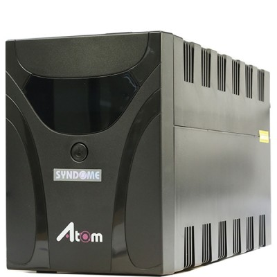 SYNDOME ATOM 1000-LCD UPS 1000VA/600W, Stabilizer, LCD Display, Universal Socket 6 Outlet (ส่งฟรีทั่วประเทศ)