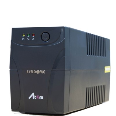 SYNDOME ATOM 600-LED UPS 600VA/360W, Stabilizer, Universal Socket 4 Outlet (ส่งฟรีทั่วประเทศ)