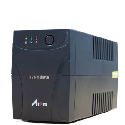 SYNDOME ATOM 800i-LED UPS 800VA/480W, Stabilizer, Universal Socket 4 Outlet (ส่งฟรีทั่วประเทศ)