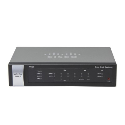 Cisco RV320 : Dual Gigabit WAN VPN Router Allow load balancing and business continuity, Dual USB ports support a 3G/4G modem or flash drive