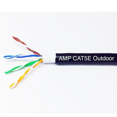 COMMSCOPE (AMP) CB-0005OUT CAT 5E Outdoor PE UTP Calble (Double Jacket) 24 AWG, Bandwidth 350MHz, CMX Black Color 305 M./Reel *ส่งฟรีเขต กทม.