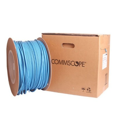 COMMSCOPE CBC-0007 CAT 6 Indoor UTP Cable 23 AWG, Bandwidth 250MHz, CMR Blue Color 305 M./Pull Box *ส่งฟรีเขต กทม.