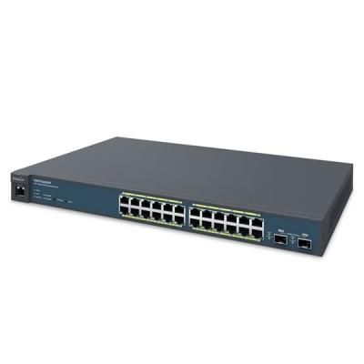 EnGenius EWS7926EFP L2 Switch PoE 24-Port Gigabit Managed 802.3af/at and 2-Port 10G SFP, Total Budget 410W, Centralized Network Management, Rackmount 1U Model