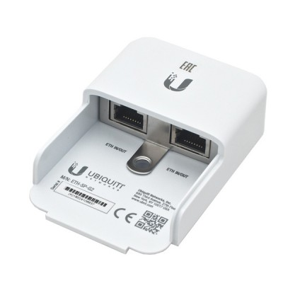 Ubiquiti ETH-SP-G2 Ethernet Surge Protector, ESD Protection for Outdoor PoE Devices, All Ubiquiti airMAX devices