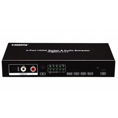 NEXiS FH-SW41A HDMI 4x1 support 4X1 HDMI 2.0 Switch 4K@60hz (4:4:4). Support HDR10, HDCP2.2 , CEC, ARC.