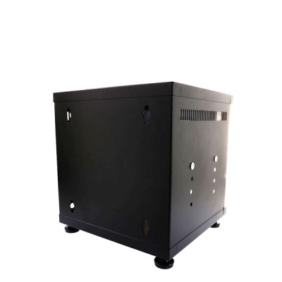 "19"" GERMANY G6-30030B Mini Steel Box Rack W/Shelf, Black (30x30x30cm)"