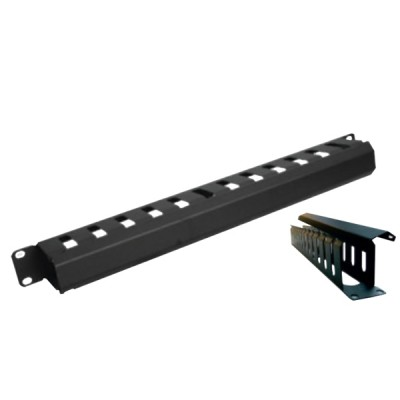 """19"""" GERMANY G7-06003 Cable Management Panel with Cover, 1U Rack Mountable"""