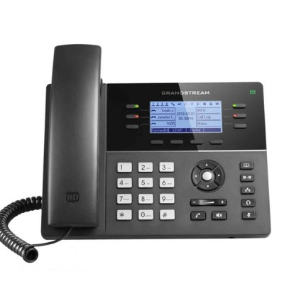 Grandstream GXP1760W WiFi enabled Mid-Range IP phones 6 line with 3 SIP accouunt, 2-Port 10/100Mbps, 200x80 Blacklit LCD Display HD, PoE & Gigabit Port