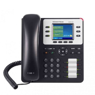 "Grandstream GXP2130 High-End IP phones SIP Enterprise 3 line with 4 Programmable key 2.8"" LCD Color, HD audio and PoE Gigabit Port"