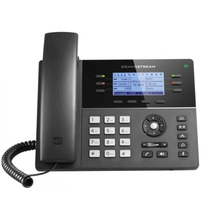Grandstream GXP1760 Mid-Range IP Phone 6 line with 3 SIP accouunt, Dual 10/100Mbps, 200x80 Blacklit LCD Display HD, PoE Support