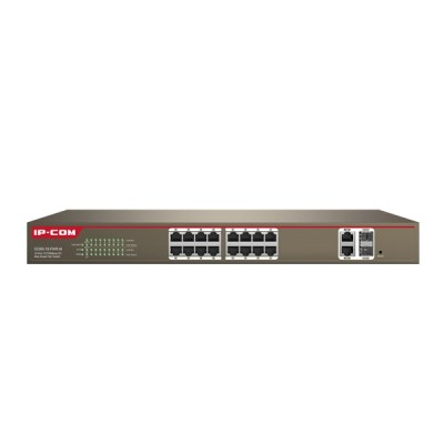 IP-COM S3300-26-PWR-M : Manage PoE Switch 24-Port 10/100Mbps, 2-Port Gigabit TP/SFP Combo, Total Power 370W, Web Smart Config
