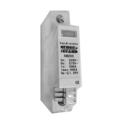 KM20C : Surge Guard Protector 40kA for IP Network, Camera and CCTV Systems