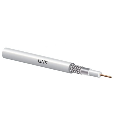 LINK CB-0109-1 RG 6/U Cable White Jacket, 60% Shield STANDARD 100m./Easy Box