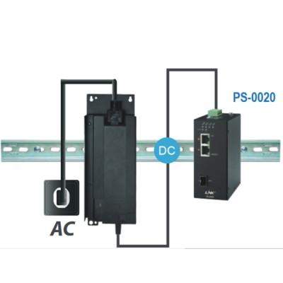 LINK PS-0020 2- Port Industrial FAST PoE Switch (90W) 2 FE(PoE) + 1 SFP (FE) PoE Power Budget:60W, Metal Case