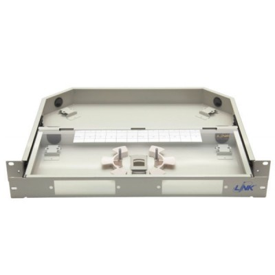 Link UF-2012A Fiber Optic Distribution Unit (FDU) 6-24F (2 Snap-In) Rack Mount Drawer (1U), Unload