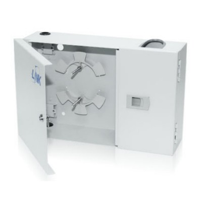 Link UF-2022A Fiber Optic Distribution Unit (FDU) 6-24F (2 Snap-In) Box Wall Mount, Unload
