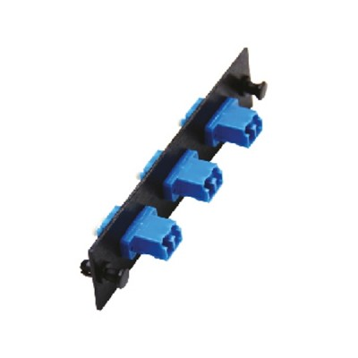 Link UF-2122SM Fiber Optic 3 LC Duplex Snap-In Adapter Plate (SM & MM.)