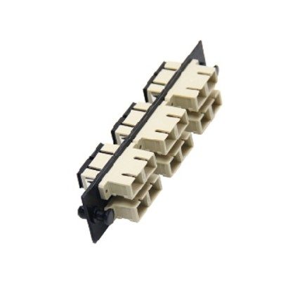 Link UF-2266 Fiber Optic 6 SC Duplex Snap-In Adapter Plate (MM.)