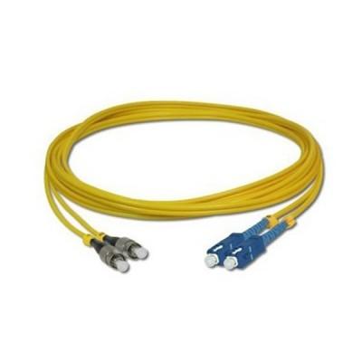 Link UFP968D36-05 Fiber Optic SC-FC Patch Cord OS2 9/125 μm, Duplex Single-mode, (3.0 mm Jacket)/UPC-APC, Lengths 5 m.
