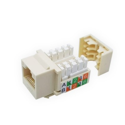 Link US-1005 CAT 5E RJ45 Modular Jack, Original Ivory color