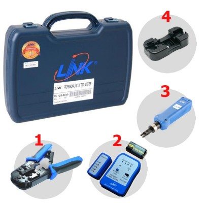 Link US-8030 LAN PROFESSIONAL SET OF TOOL & TESTER