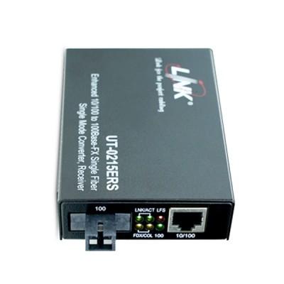 LINK UT-0215ERS-20 RJ45/Single SC 10/100 Mbps ENHANCE Media CONVERTER, SM (20 km.)