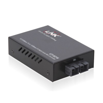 Link UT-0216-SM60 MINI Fiber Optic Media Converter RJ45/SC (SM.) 10/100 Mbps, Distance 60 km. (Indoor Only)