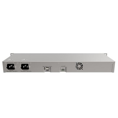 MikroTik RB1100AHx4 Dude Edition, Router 13-Port Gigabit Ethernet 60GB M.2 drive for Dude database, 1U rackmount