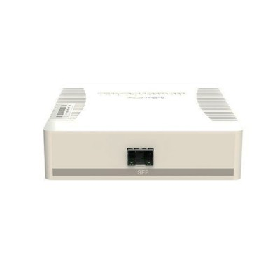 MikroTik RB260GSP Smart Switch 5-Port 10/100/1000 Mbps Gigabit Ethernet, Managed Switch + 1-Port SFP Slot + MikroTik SwOS, Port-to-Port Forwarding, Bandwidth Limitation Supported, Plastic Case + 4-Port PoE