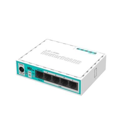 MikroTik RB750r2 (hEX lite) Router 5-Port 10/100Mbps, Small plastic case, CPU 850MHz, RAM 64MB RouterOS L4