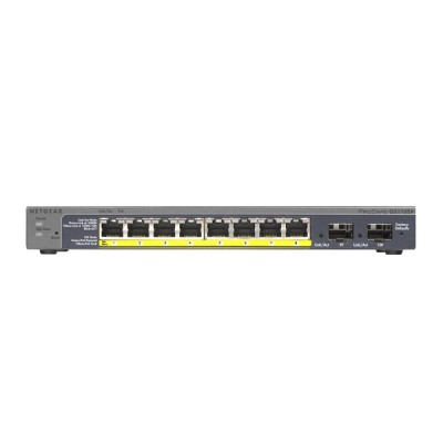 Netgear GS110TP 10-Port Gigabit Ethernet PoE Smart Managed Pro Switch with 8 PoE Ports and 2 Dedicated SFP Ports